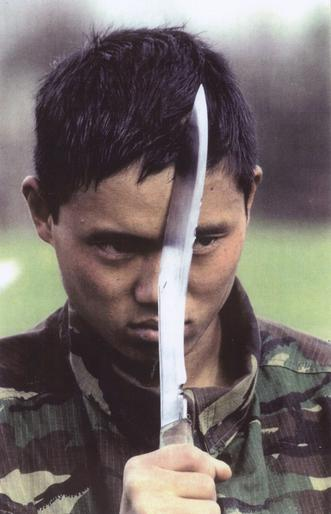 Kukri in the hands of a young Gurkha soldier