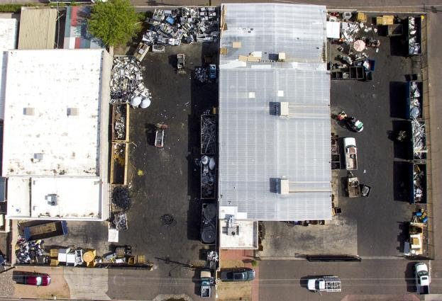 Snowman Recycling Center Aerial View