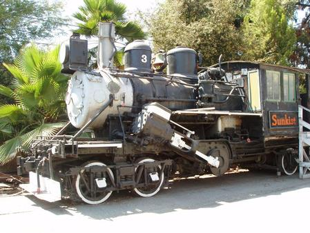 Fruit Growers Supply Company Number 3, a Climax type geared steam locomotive.