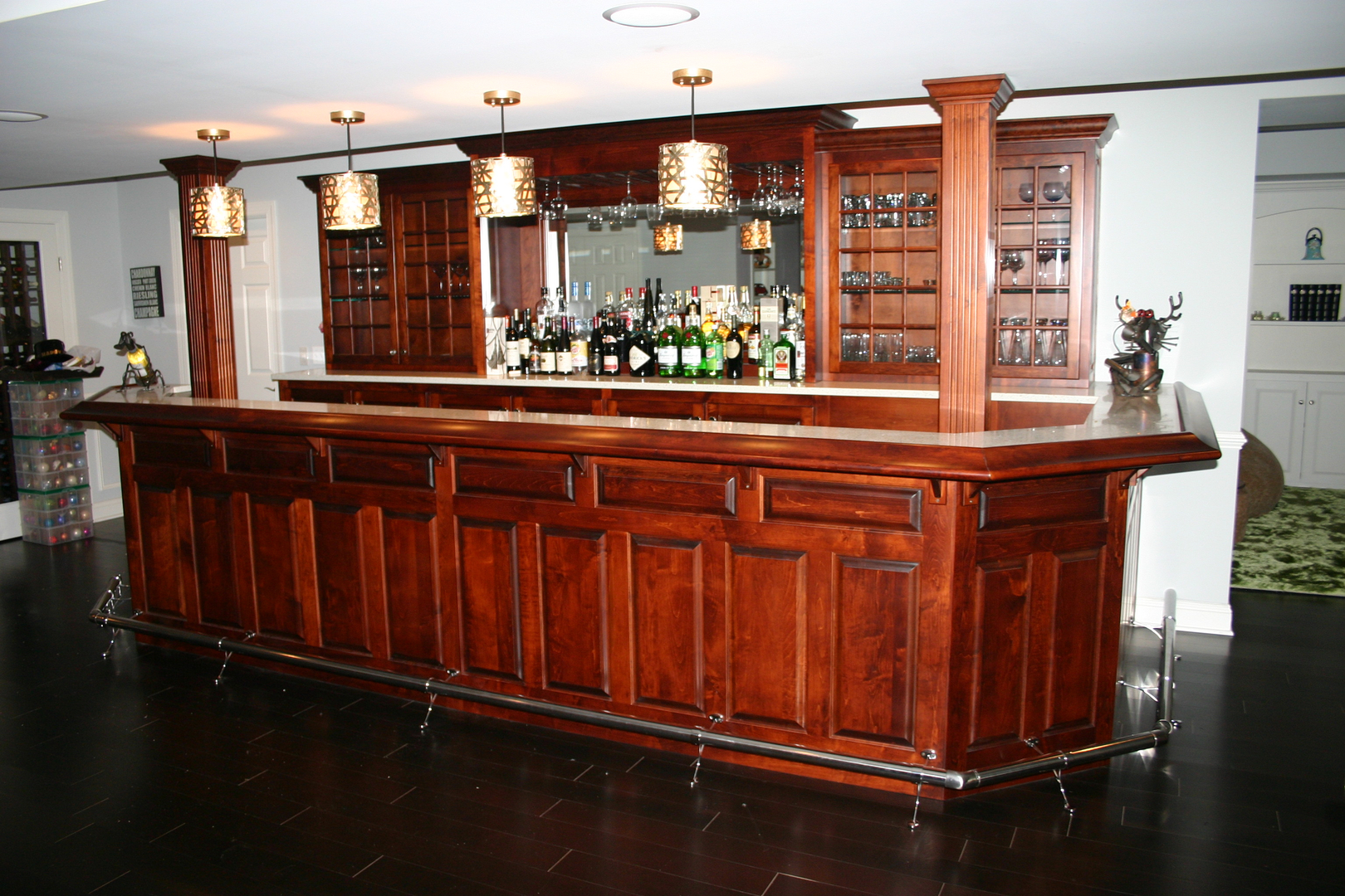 Custom Home Bars, Home Bars Built in New Jersey - Billiards And Bars ...