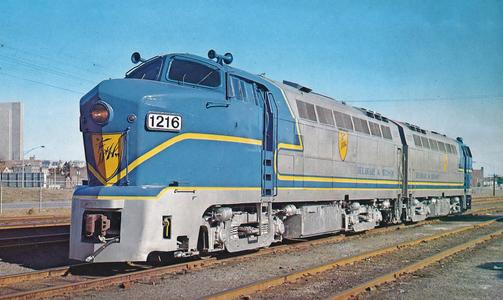 Delaware and Hudson 1216 and 1205 at Albany, New York in 1974.
