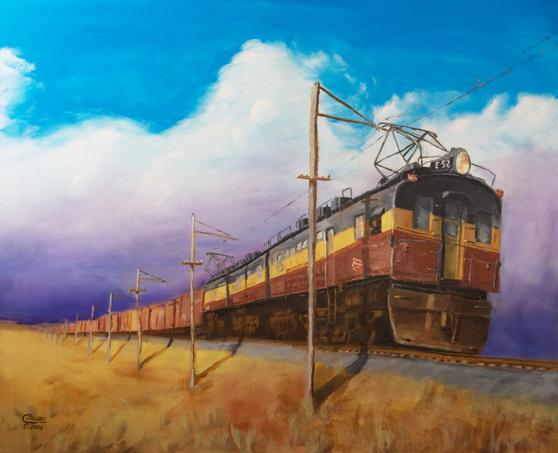 Electric Railroad Locomotive Painting