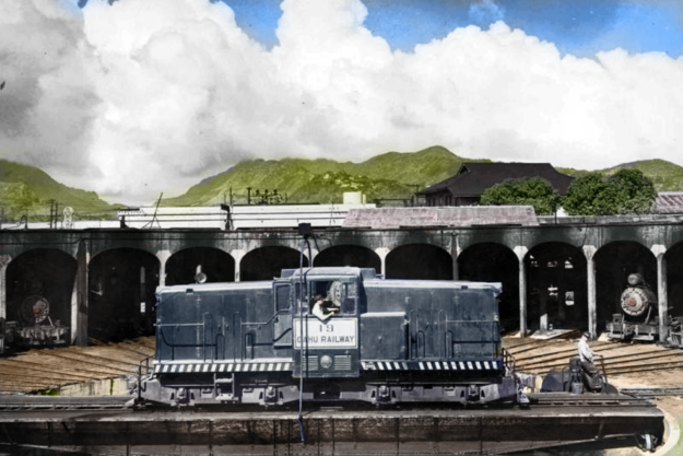 Oahu Railway & Land Company diesel No. 19, a GE 47 tonner locomotive.