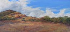 Breaking the Drought, plein air pastel by Lindy C Severns, Fort Davis TX