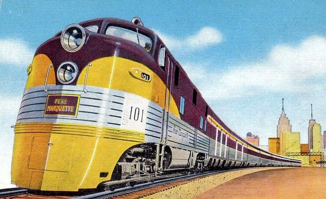 The Pere Marquette Streamliner.