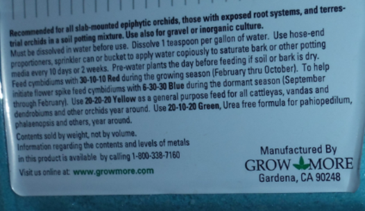 Grow More Orchid UREA FREE 20-10-20