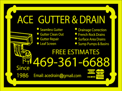Free estimates on on rain gutters and french drain system and rain gutter repair