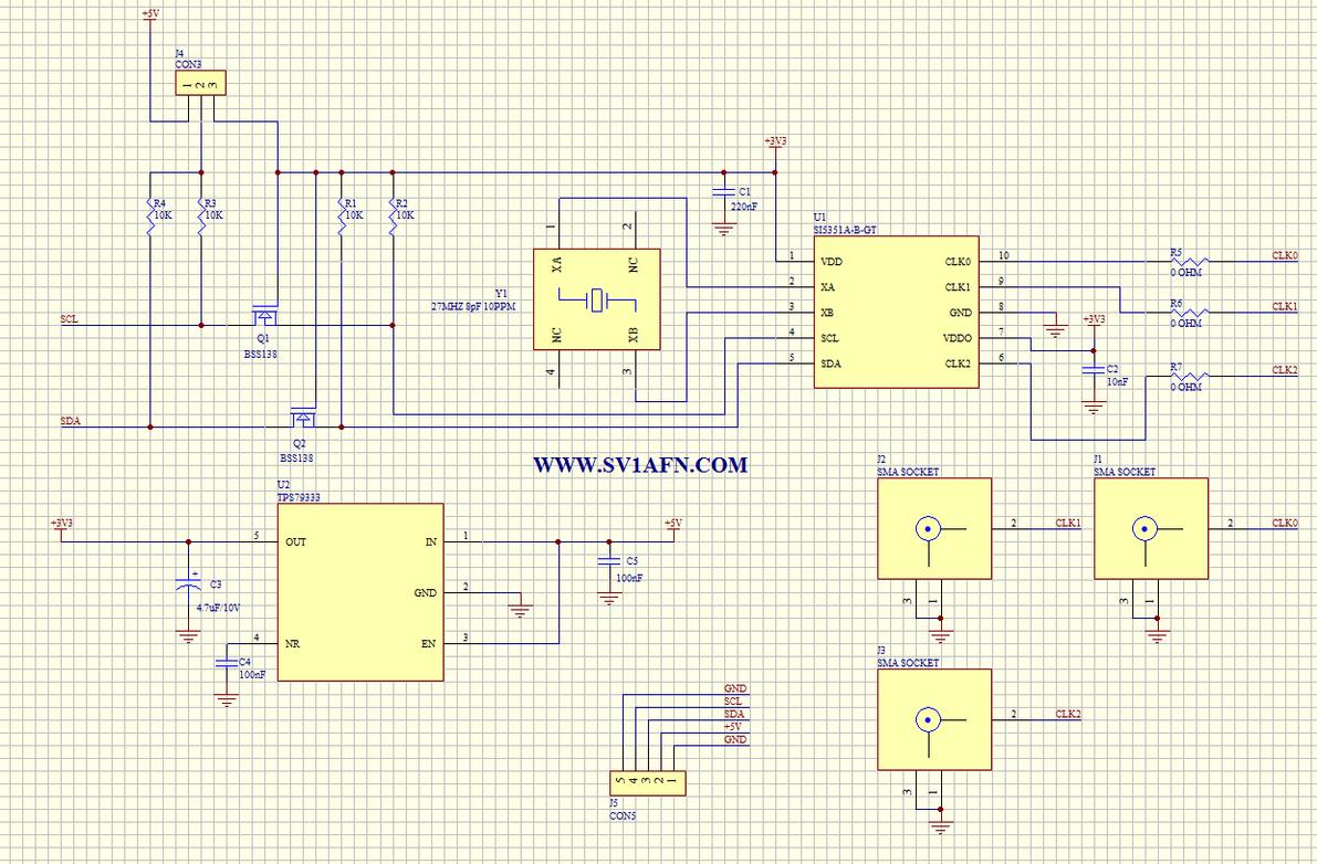 Si5351a Mosfet Power Amplifier Schematics Module Schematic In Pdf