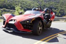 Rent a Polaris Slingshot, it's like the bat mobile!