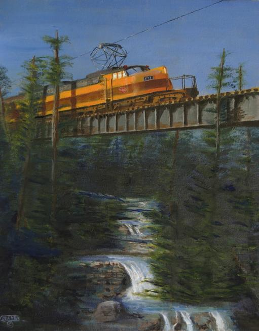Milwaukee Road Electric Locomotive Painting little joe