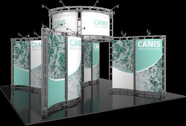 Canis Orbital Express 20x20 trade show booth exhibit.