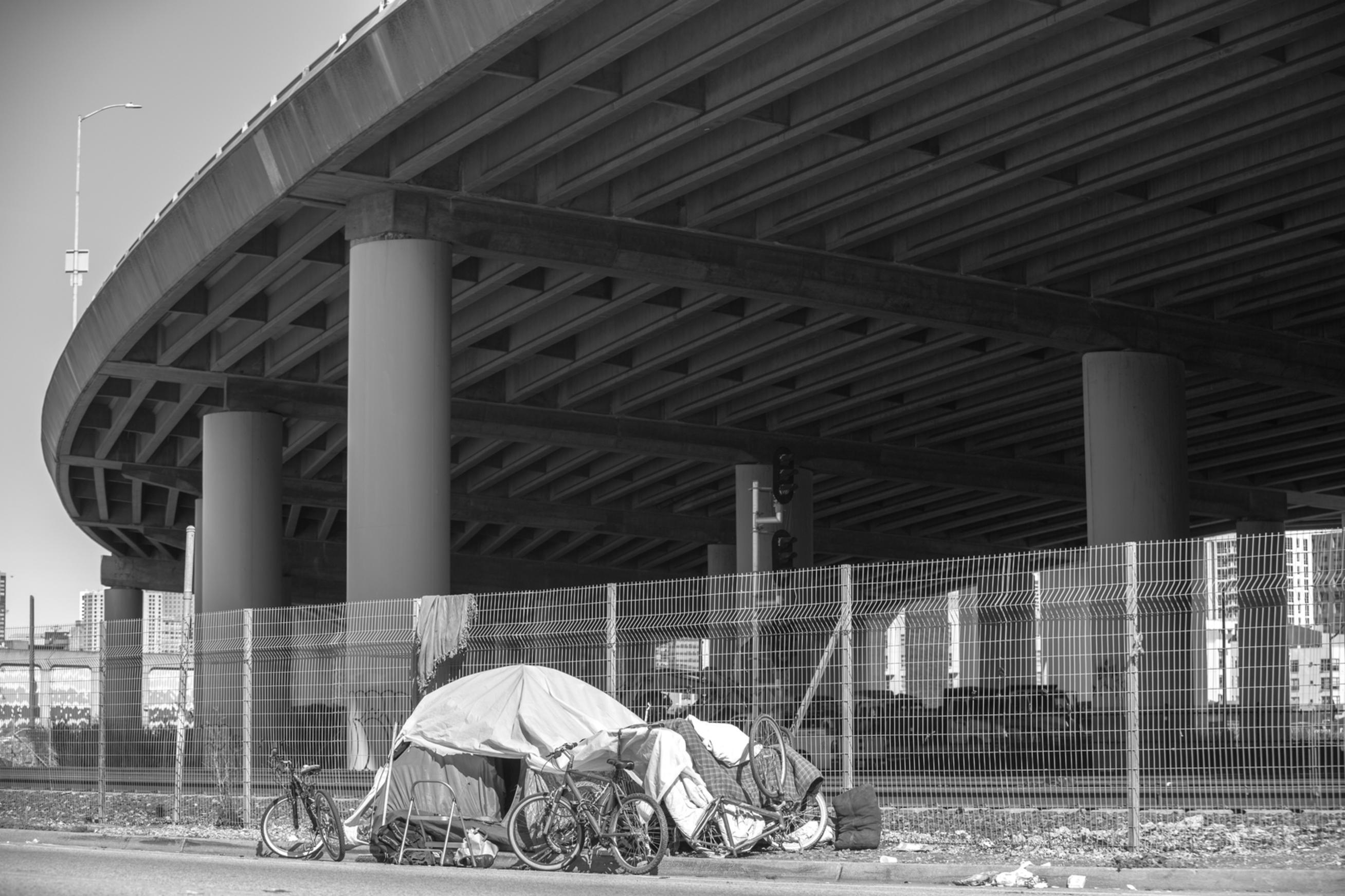 bay area homeless living situation portrait