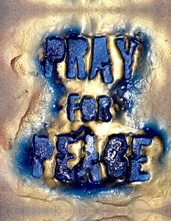 Pray For Peace From The Art Installation of the same name.