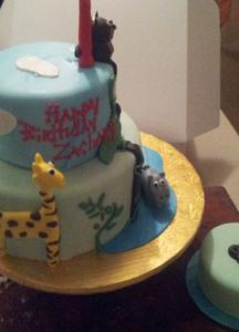 tiered kids birthday cake