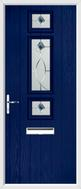 3 Square Strip Composite Door fusion art glass