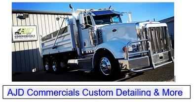 Detailing, semi's, Polishing, tandem, aluminum polishing