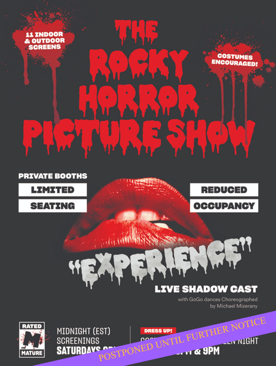 The Rocky Horror Picture Show in San Diego. Movie Screening at the OB Playhouse.