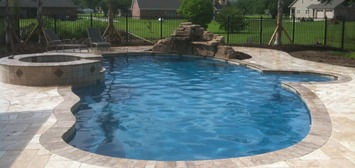 swimming pool travertine
