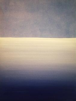 What kind of lines have you drawn? Curator's pick Bbuzzart. The Sea, The Sky by Irish artist Orfhlaith Egan featured in Bbuzzart.