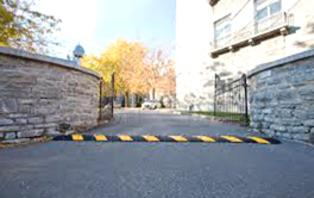 Rubber speed bumps can control speed in residential areas