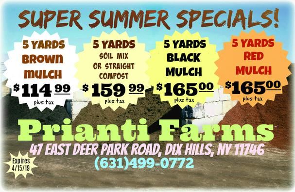Prianti Firewood Seasoned Delivery Suffolk Nassau Plant Herbs Vegetables Flower Savings Special Sale Shrubs Trees Mulch Topsoil Compost Delivery Nursery Long Island