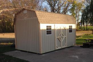 10X16 BARN STORAGE SHED 7' SIDEWALLS