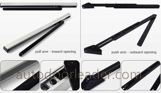 automatic swing door mechanism arm