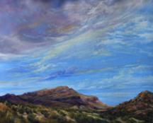 Sky Song, Earth Dance pastel landscape by Lindy C Severns