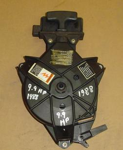 Used rewind assembly for a 1988 Mercury 9.9 hp outboard motor.
