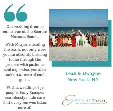 Beach Destination Wedding by Easy Escapes Travel, Secrets Maroma Riviera Maya