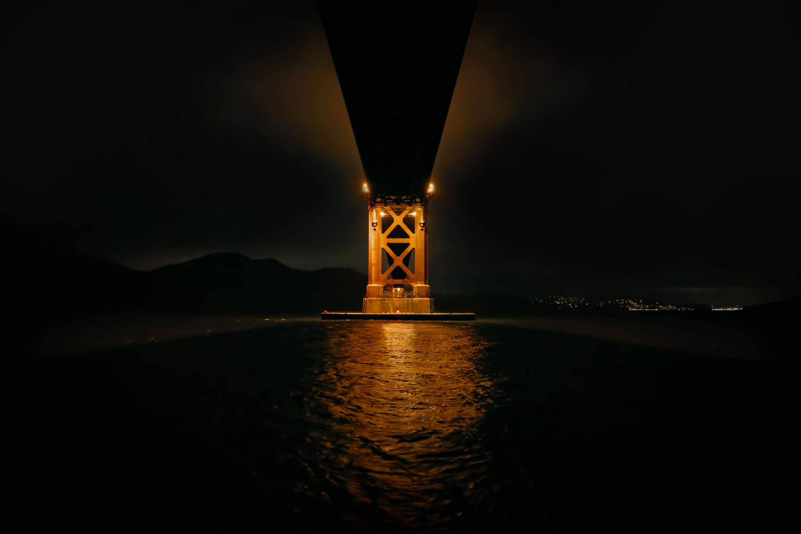 golden gate bridge at night san francisco bay area