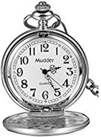 Mudder Classic Smooth Vintage Steel Mens Pocket Watch Xmas Gift B00OB5DCIC,polo