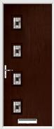 4 Square Composite Door aspen glass