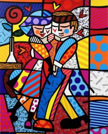 Romero Britto New Cheek to Cheek
