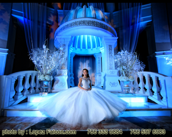 Winter Wonderland Quinceanera Sweet 15 Party Theme Sweet 15 Photography Video Dresses Photo Shoot Fifteens Quince Venue Westin Colonnade Coral Gables quinceanera Dj Choreography Winter Wonderland Cake Winter Wonderland Stage Decoration Miami Winterland show Miami fantasy designers
