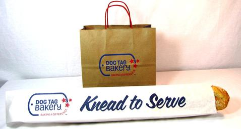 Handle carry out bags custom printed