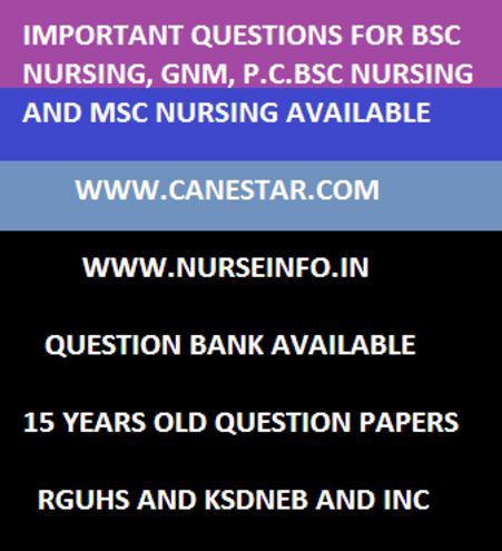 bsc nursing second year 2014, questions, rguhs