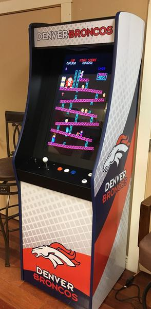 Broncos stand up arcade game