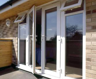 UPVC french door with side panel