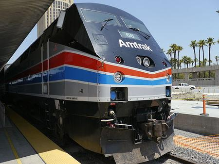Amtrak P42DC No. 66 in Phase II heritage livery.