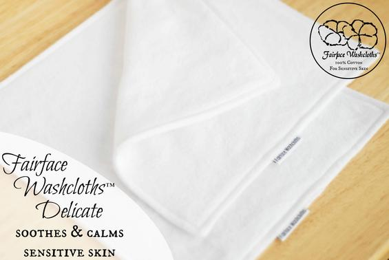 Softest sensitive skin washcloths Fairface Delicates