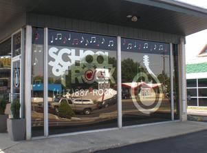 Store front graphic designed out of window film located in Springfield, MO