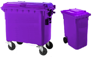 Lockable Wheelie Bins for Offsite Shredding in Leeds