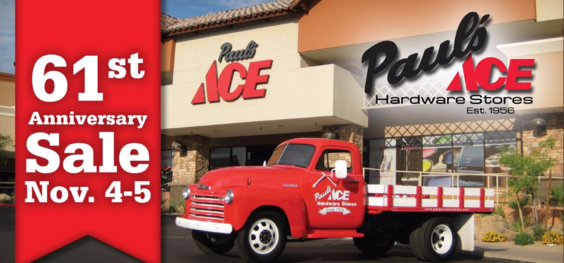 Paul's Ace Hardware's 61st Anniversary Sale