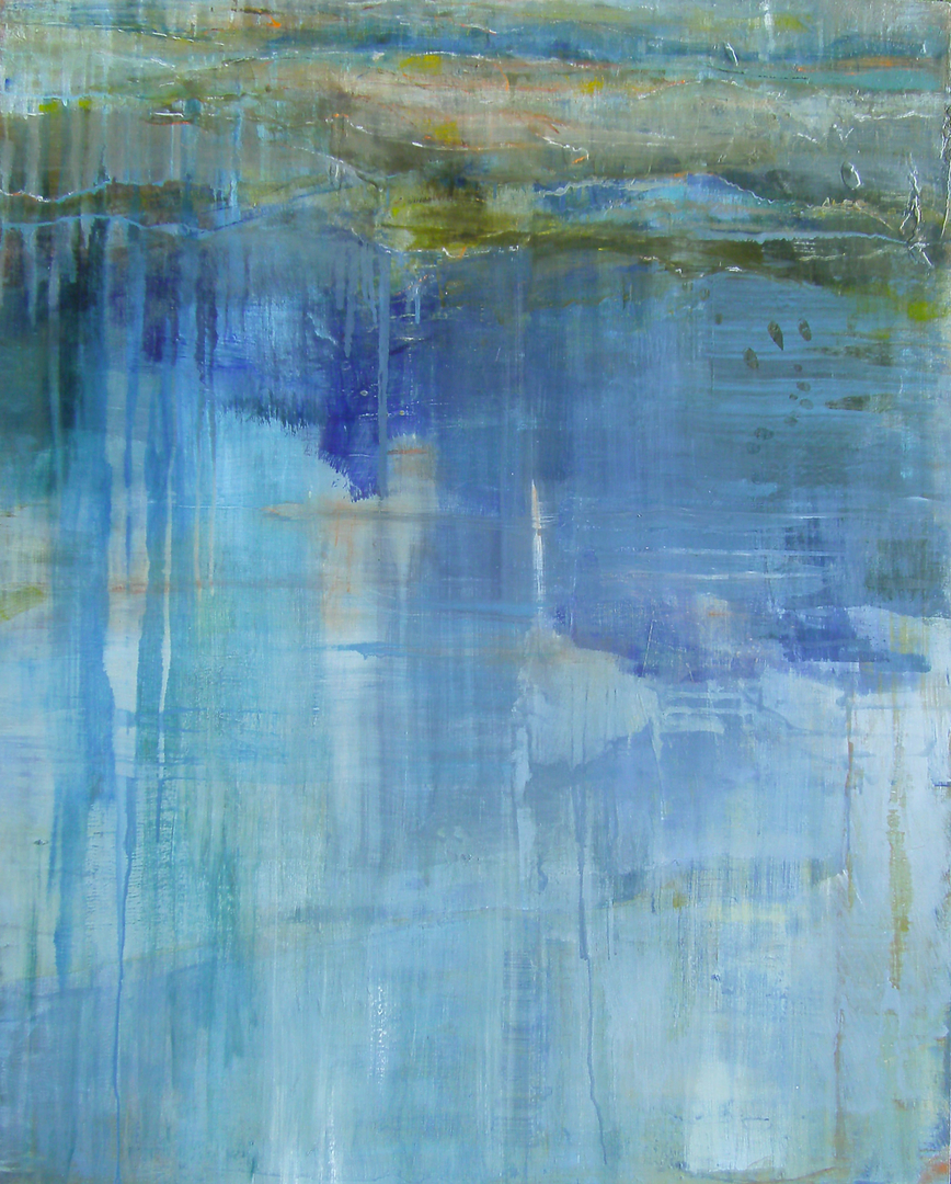 Image result for blue stream abstract painting