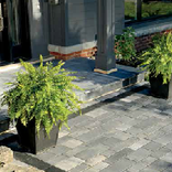 Artline™ Driveway Pavers at a residential home with contemporary pavers accent