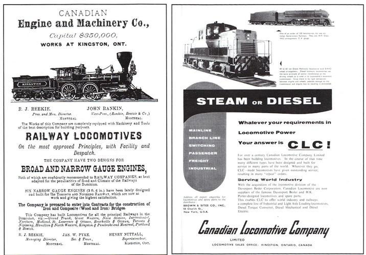Canadian Locomotive Company advertisements.