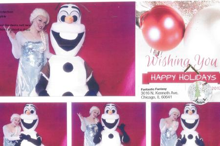 Elsa and Olaf Frozen style Party Characters