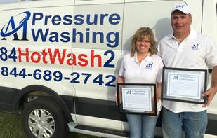 Proud A1 Pressure Washing owners Bill and Donna Allen
