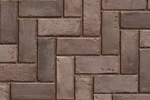 Unilock Concrete Town Hall Paver in Burnt Clay Color